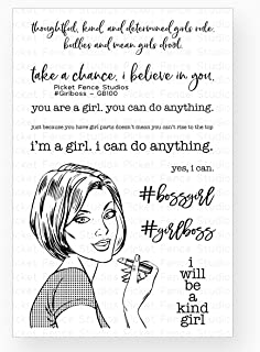 Picket Fence - Girl Boss - Clear Cling Stamp Girl Power Sentiments Set GB100