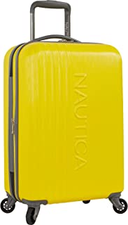Nautica Hardside Carry On Luggage - 20 Inch Spinner Wheels Suitcase Lightweight Rolling Travel Bag for Under Seat