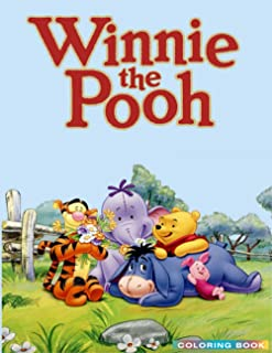 Winnie The Pooh Coloring Book: Perfect Christmas Gift For Kids And Adults Who Love Winnie The Pooh: Unofficial Coloring Bo...