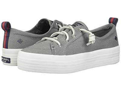 Sperry Crest Vibe Triple Canvas (Grey) Women