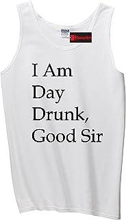 ComicalシャツメンズI Am Day Drunk Good SirおもしろTシャツHoliday週末タンクトップ