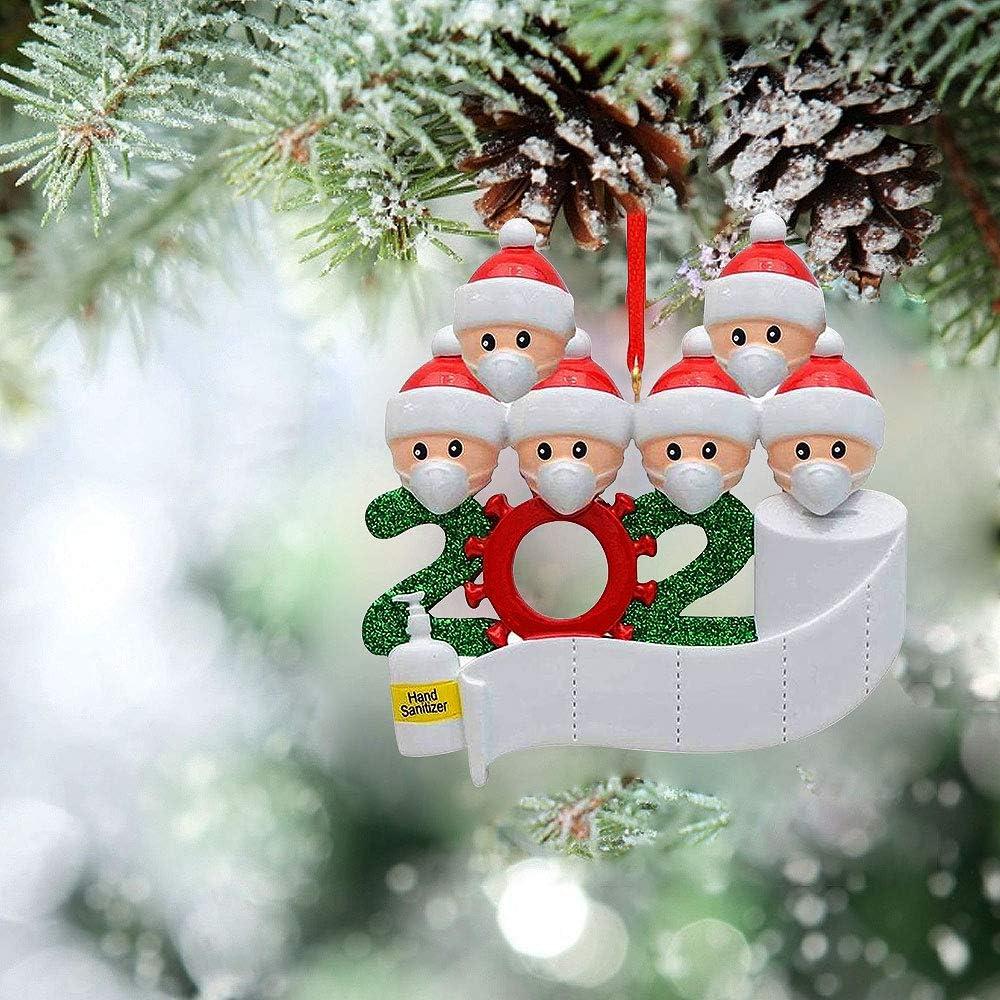 WELLXUNK/® Adornos Navidad Colgantes Mu/ñeco Familia Sobrevivido Adornos de /árbol de Navidad 2020 Adornos de Adorno de Navidad Adornos navide/ños Decoraciones M1 Accesorios de casa