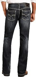 Men's Relaxed Fit Reflex Pistol Straight Leg Mid Wash Western Jeans