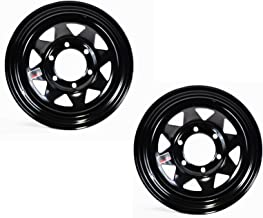 2-Pack Trailer Rim Wheel 15X6 6-5.5 Black Spoke 2830 Lb. 4.27CB