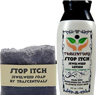 Stop Itch Combo Pack Jewelweed Lotion and Soap For Natural Itch Relief From Insect Bites Poison Ivy or Dry Skin Made With Juniper Berry Essential Oil
