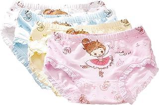 JELEUON 4 Pcs Little Girls Toddler Kids Ballet Princess Underwear Boxers Briefs Panties