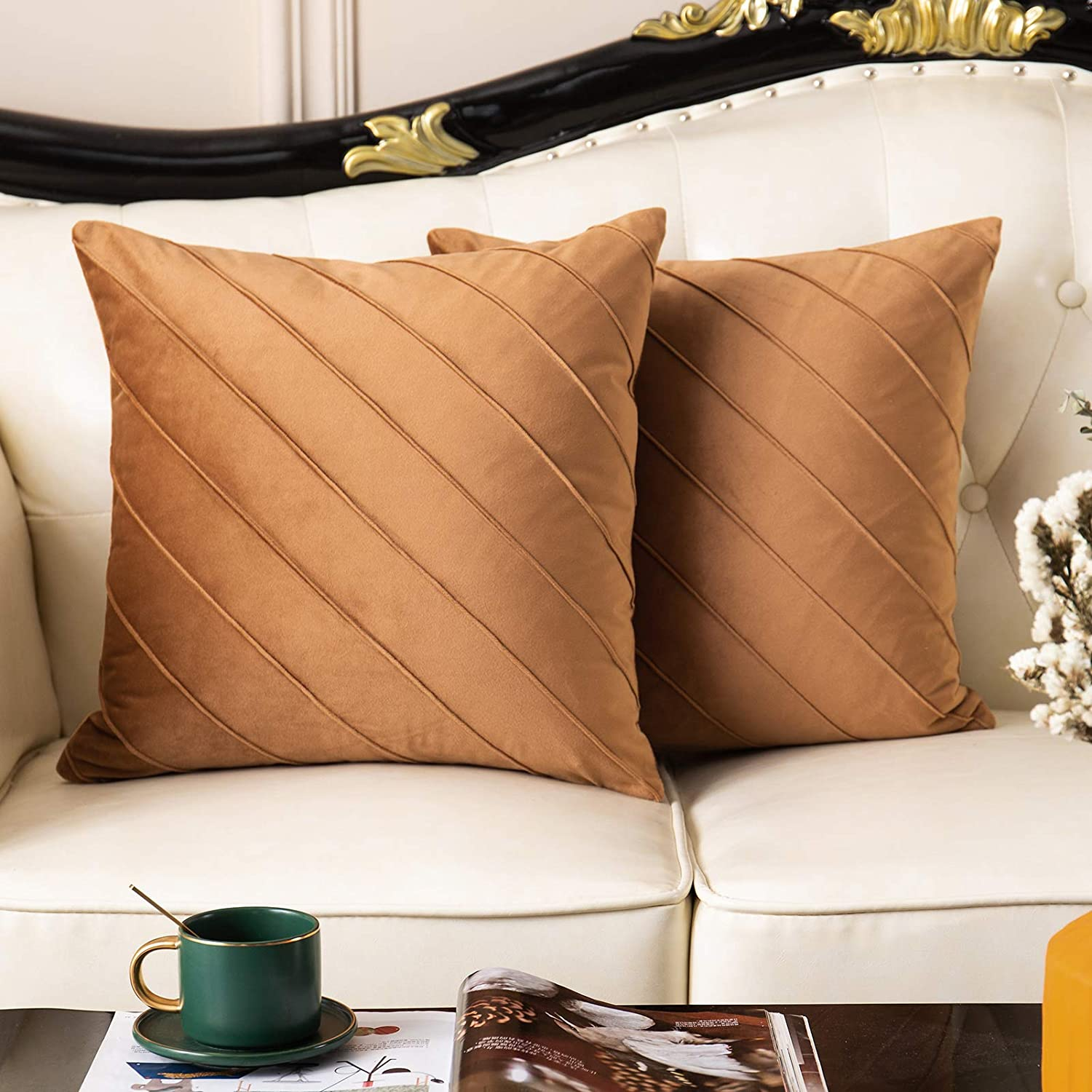 Selling and selling Lipo Velvet Throw Pillow Covers Square Solid Outlet ☆ Free Shipping Pil Soft Decorative