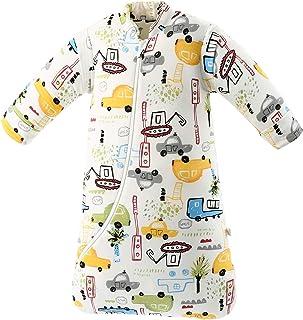 Pijama de invierno para bebés y niños, 3,5 tog, de algodón orgánico, diferentes tamaños, desde el nacimiento hasta los 4 años (M: altura de 75 cm-90 cm/6 – 18 meses, coche urbano)
