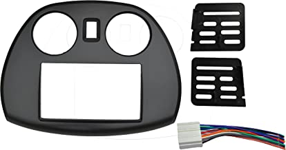 Radio stereo Double 2 Din Dash Install Kit Mount Trim Bezel w/ Wiring Harness and Factory Blue LED Fitted For Mitsubishi Eclipse