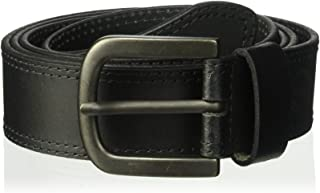 Dickies 100% Leather Jeans Belt with Stitch Design and Prong Buckle