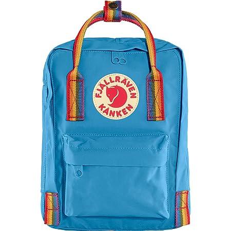 Fjällräven Unisex-Adult Kånken Mini Carry-On Luggage, Air Blue-Rainbow Pattern, Einheitsgröße