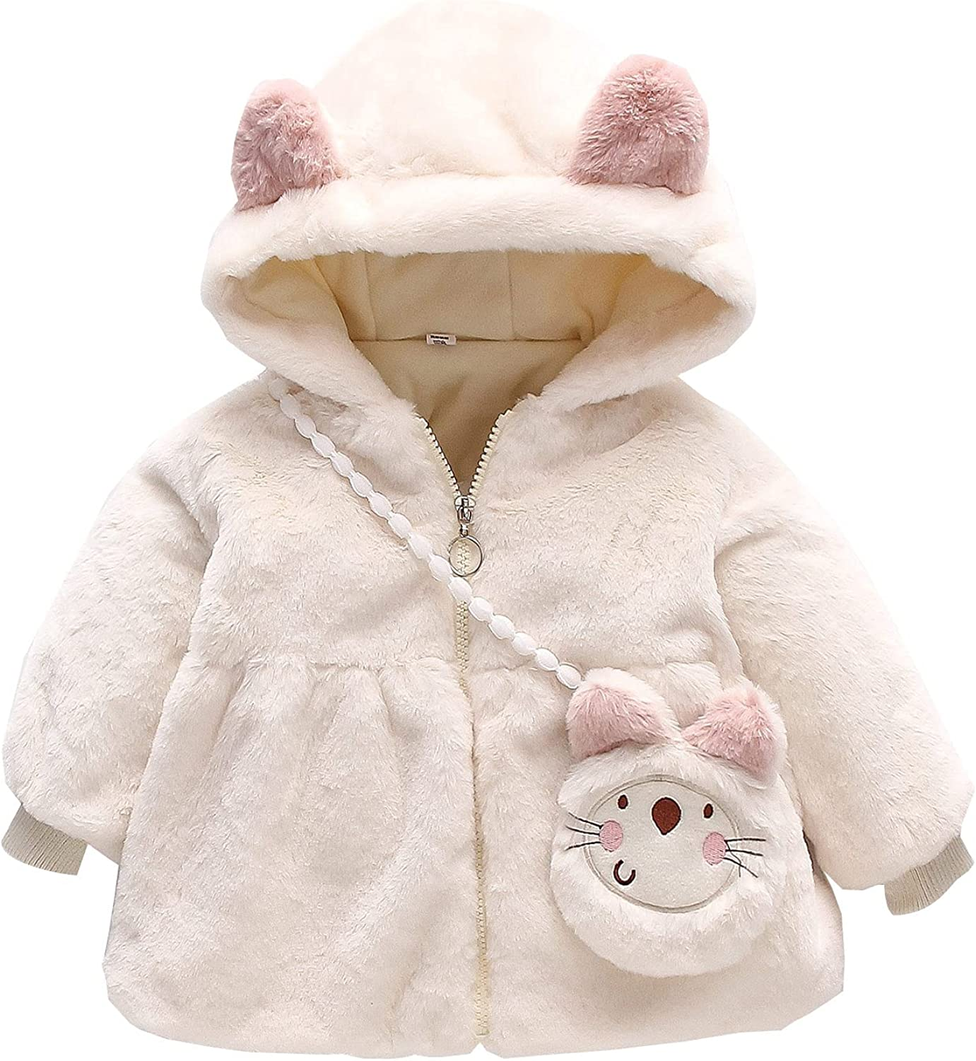 low-pricing Baby Winter Fleece Windproof Coat Hooded Thicken Outerwear Time sale Warm