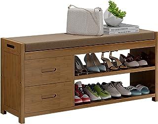 Rangement Etagere Meuble Range Chaussure Bambou Banc de Support À Chaussures, Intérieur Entrée Organisateur de Chaussures ...