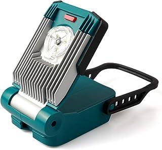 Portable Rechargeable LED Work Light, Enegitech 14.4V / 18V 9W 420LM Mini Battery Floodlight for Maintenance Site Power Fa...