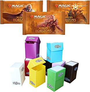 Totem World 3 Booster Packs of Magic The Gathering Modern Horizons with a Totem Deck Box - Three MTG Packs for MH1 Booster Draft Lot Bundle