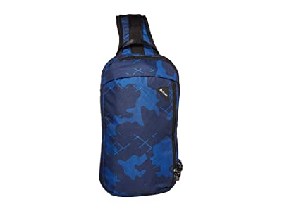 Pacsafe Vibe 325 Anti-Theft Crossbody Pack (Blue Camo) Cross Body Handbags