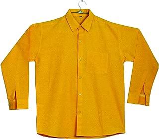 Mens Formal Regular Fit Full Sleeves Khadi Shirt