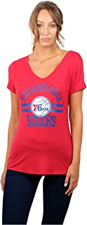 Ultra Game NBA Women's Relaxed Short Sleeve Tee Shirt