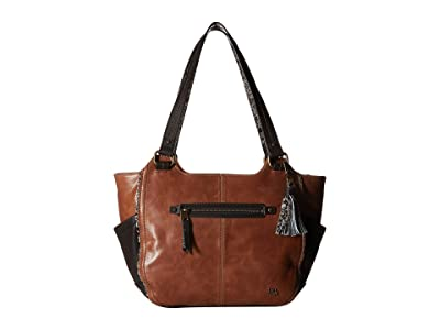 The Sak Kendra Satchel (Tobacco Snake Multi) Shoulder Handbags