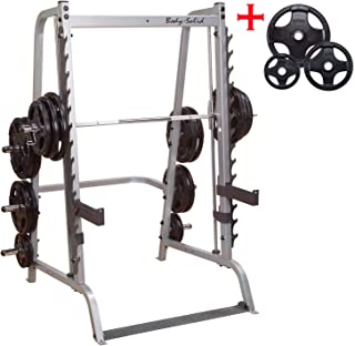 Body-Solid GS348Q Series 7 Linear Bearing Smith Machine with Olympic Rubber Grip Weight Plates