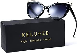 KELUOZE Womens 100% UV Protection Sunglasses Cat Eye Sunglasses Aviator Wayfarer Sunglasses