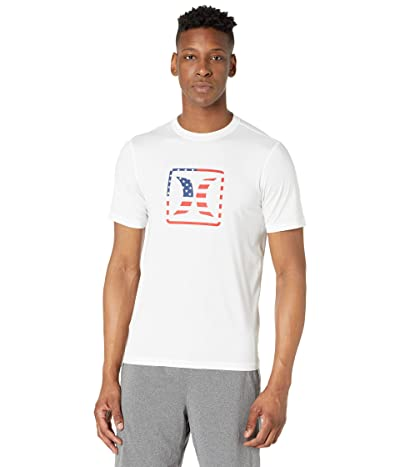 Hurley Americana Short Sleeve Rashguard (White) Men