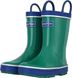 Vivobarefoot Fulham Kids Rubber Wellington Boot Style Chelsea Boot Black