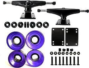 VJ Skateboard Truck and Wheel, 5.0 Skateboard Trucks w/Skateboard Crusier Wheel 60mm, Skateboard Bearings, Skateboard Screws, Skateboard Riser Pads
