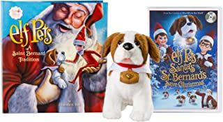 The Elf on the Shelf: A Christmas Tradition Elf Pets St. Bernard with DVD Santa's St. Bernards Save Christmas Set