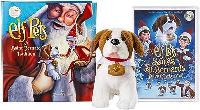 The Elf on the Shelf: A Christmas Tradition Elf Pets St. Bernard with DVD Santa's St. Bernards Save Christmas Set