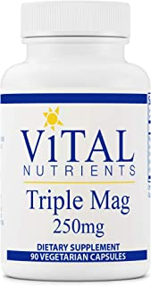 Vital Nutrients - Triple Mag - Magnesium for Enhanced Absorption and Metabolism - Contains Magnesium Oxide, Malate and Gly...