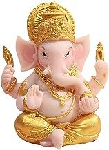 F Fityle 1pc Collectible Resin Ganesha Figurine Hindu Buddha Statue Home Porch Office Mandir Diwali Table Decoration Sculp...