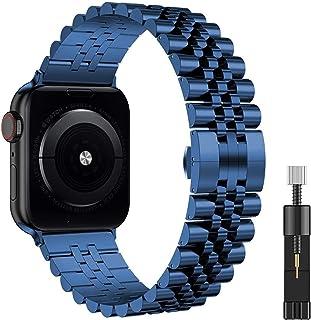 ZHONGGOZZ Link Bracelet for IWATCH Steel Steel Correa for Apple Watch 5 6 40mm 44mm Banda Serie 4 3 2 1 Deportes y edición...