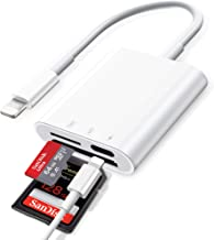 SD Card Reader for iPhone iPad,DSLR Camera Trail Game Camera Dash Cams SD/Micro SD Card Reader,Memory Card Camera Reader A...