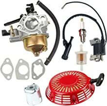 Hilom Carburetor Carb with Recoil Starter for Honda GX390 GX 390 13HP 4-Stroke Engine Lawn Mower Tiller Cultivator Replace 16100-ZF6-V01 5244827