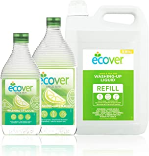 Ecover Bundle - Ecover Washing up Lemon & Aloe Vera Kit, 3 Count