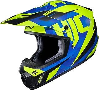 HJC CS-MX II Dakota - Off-Road/Dirt Motorcycle Helmet - Blue/Hi-Vis Neon Yellow - XL