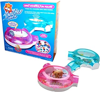 Zhu Zhu Pets Cepia Giant Hamster Fun House with 1 Kitchen/Bedroom Studio, 1 Bathroom, 1 Tunnel, 2 Connectors and 4 Door Caps (Playset is Over 28 Inches Long, Hamster Sold Separately)
