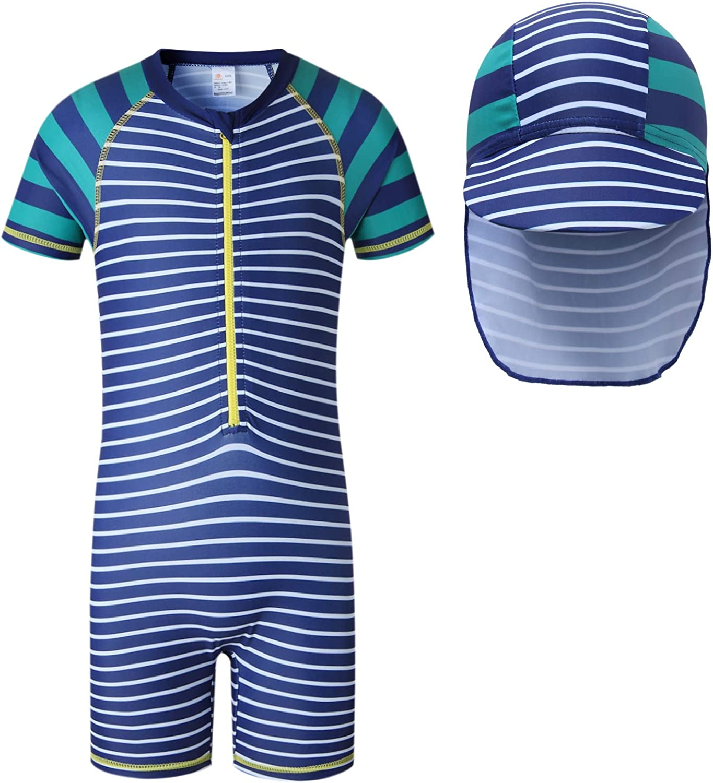Vivobiniya Baby Rash Guard Swimsuit Boys Swimsuit with Sun Hats 6M-6Y