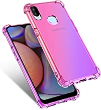 CHICASE Case for Galaxy A10 S 2019,Ultra Thin Slim Flexible Soft TPU Colorful Back Cover for Samsung Galaxy A10S (Pink+Purple)