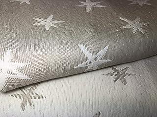 NORA HOME Colcha Cubrecama Piqué de Jacquard Mod. Estelar con Estrellas. Reversible. Todas Las Medidas (Lino, 180x260 cm (Cama 90))