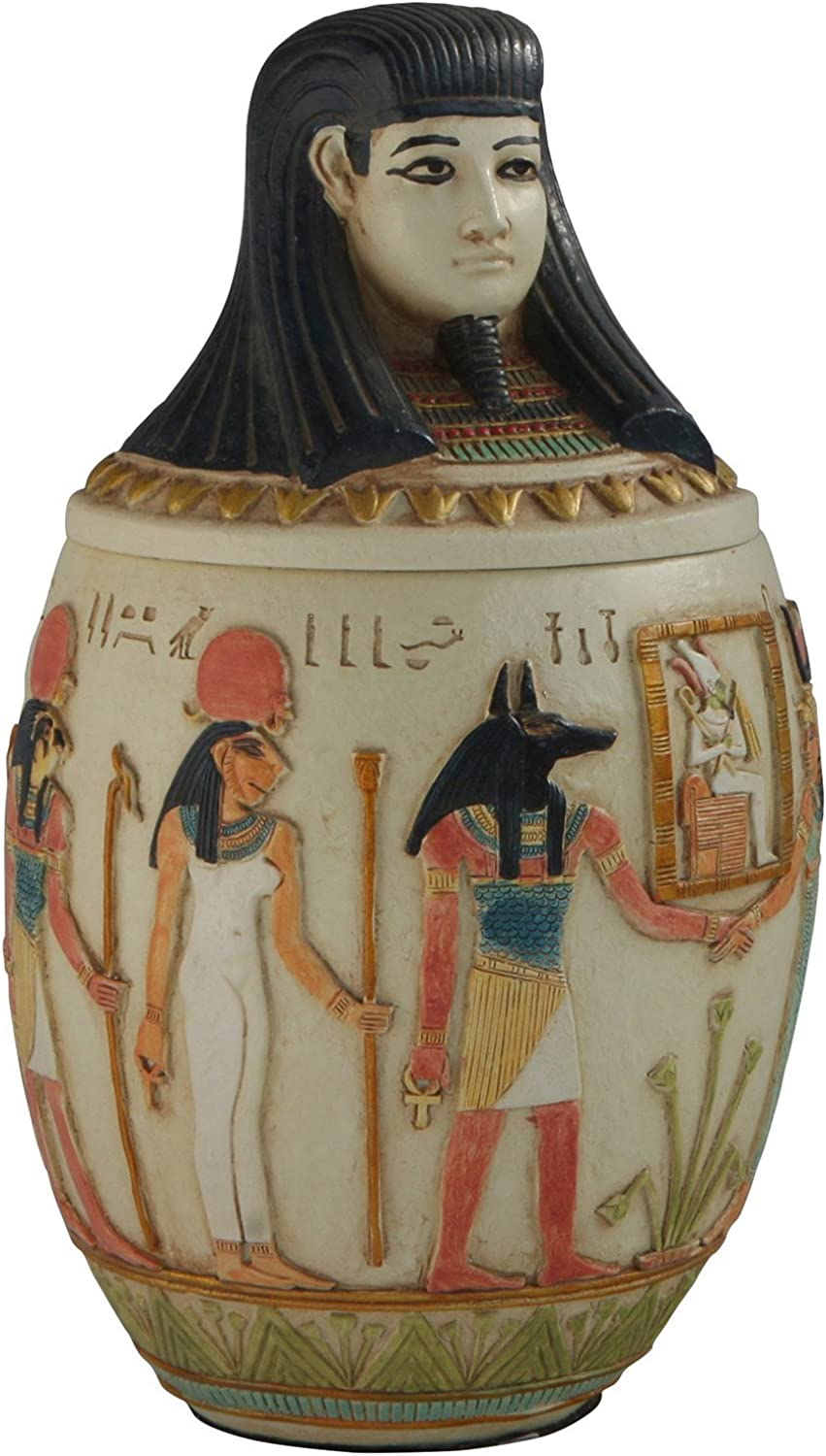 Canopic Jar of Imseti, Egyptian Statue, 8.75 Inches