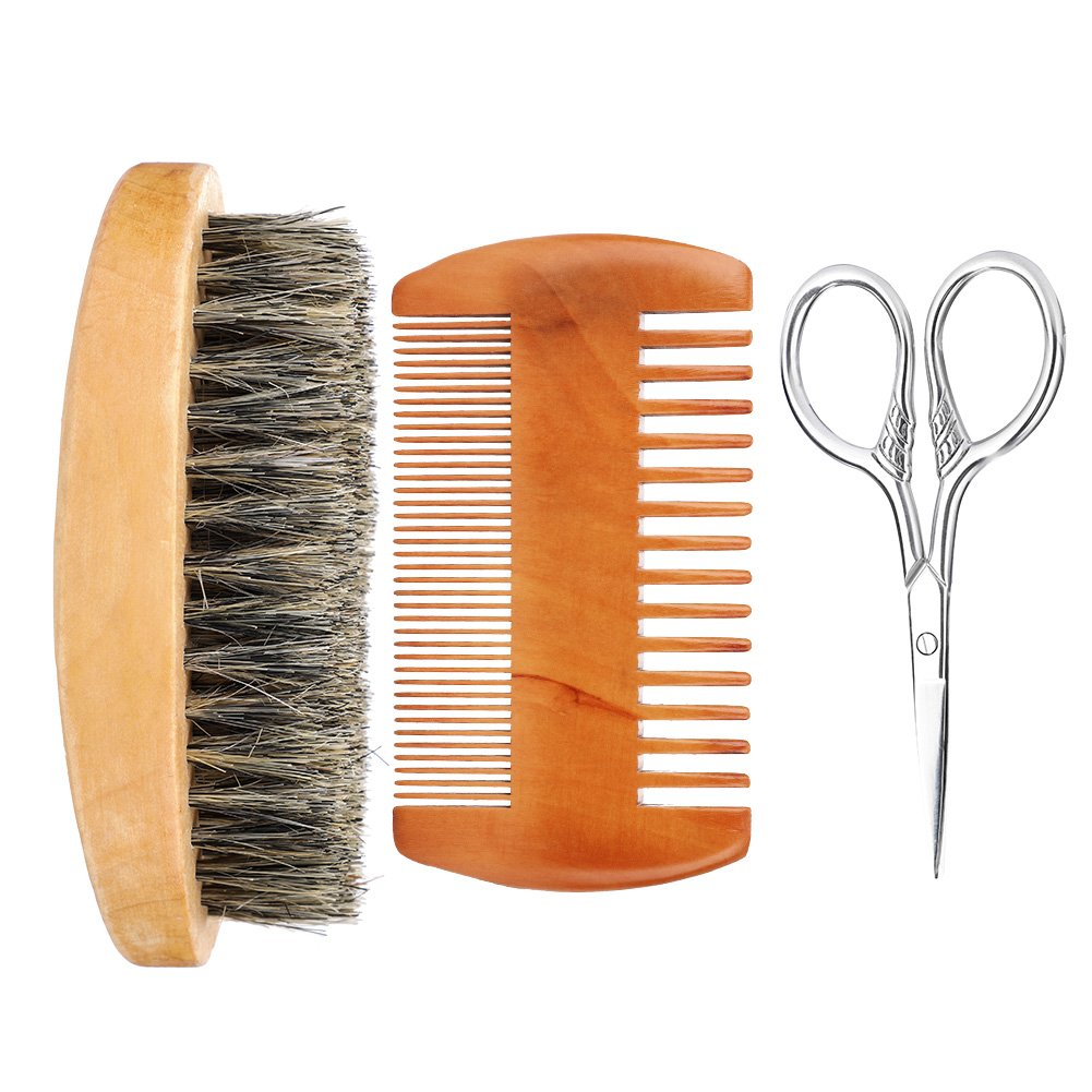 Men's Beard Grooming Max 64% OFF Set Double-Sided Comb and Brush Soft lowest price