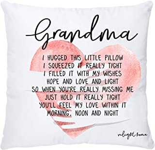 VILIGHT Grandma's Throw Pillow Covers 18x18 for Grammy from Granddaughter and Grandson - Nana Grandmother's Decorative Square Couch Pillowcase