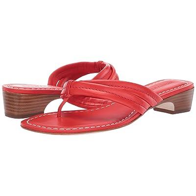 Bernardo Miami Demi Heel Sandals (Tomato Antique Calf) Women
