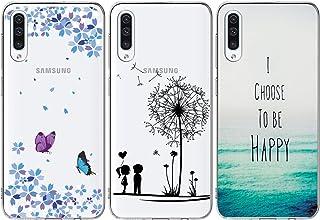 comprar comparacion iAdvantec 3 x Funda para Samsung Galaxy A50, Transparente Silicona Cover Carcasa Absorcion de Choque Cojín de Esquina, U...