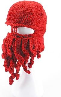 6a4a5cbfda1 Oidon Octopus Winter Warm Knitted Wool Ski Face Mask Knit Beard Squid  Beanie Hat Cap