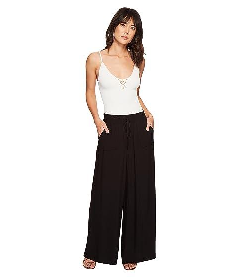 pantalones de Jack Rayon by Twill Dakota ancha pierna BB Montero negros rrx0Yq