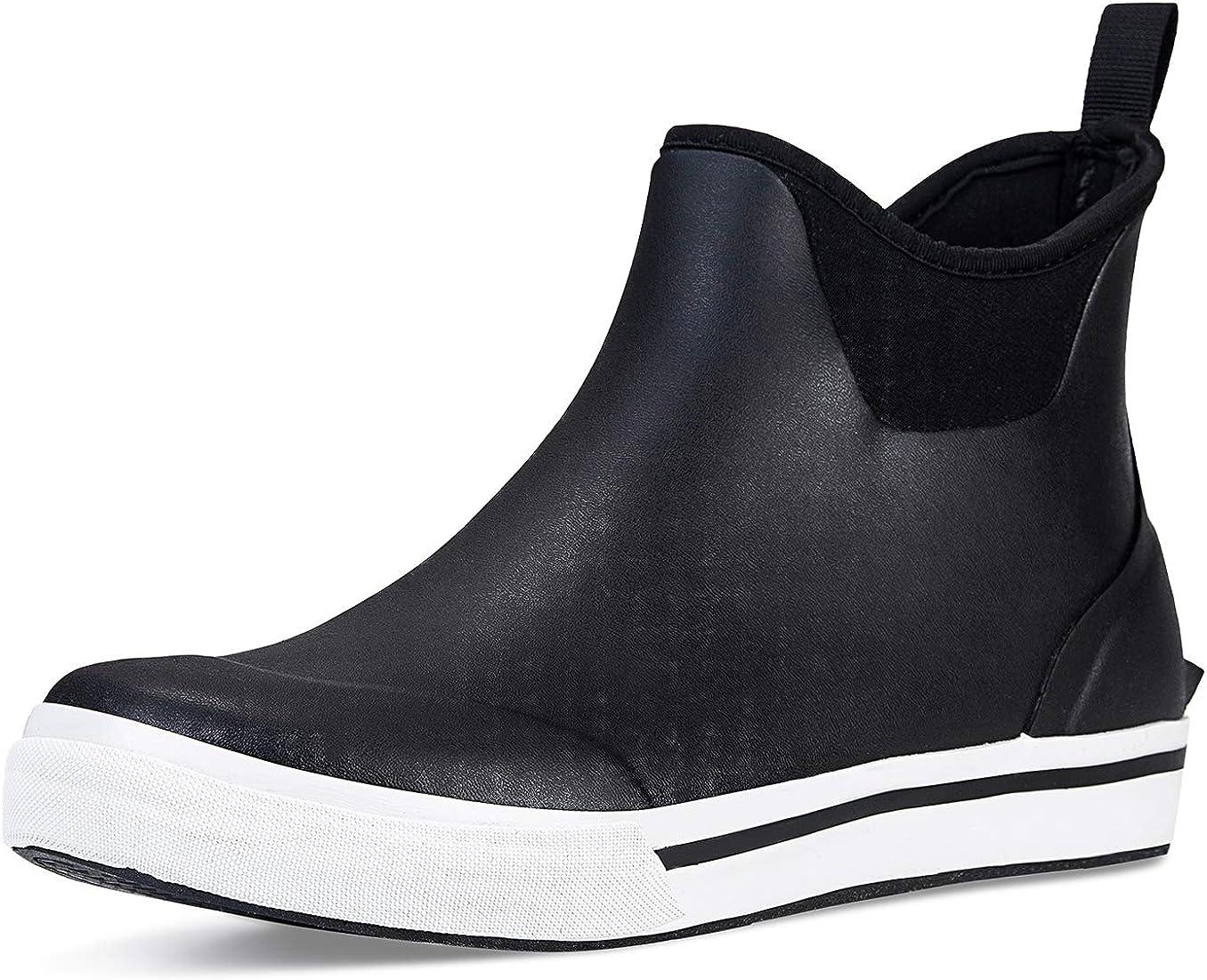 TENGTA Men's Waterproof Deck Brand new Boots Rain Footwear Credence Ankle Neoprene