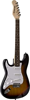 Outlaw Solid Body S-Type Electric Guitar Tobaccoburst Huntington Left Handed